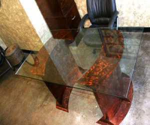 Stainless steel modern contemporary desk