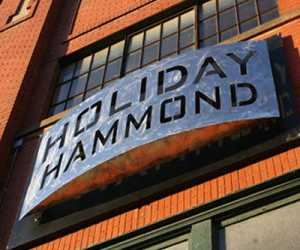 Holiday hammond stainless steel sign