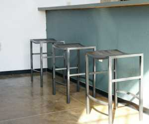 Metal Gray Bar Stools